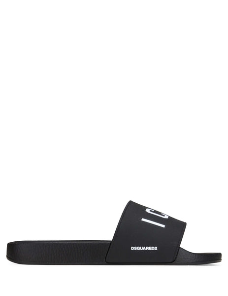Dsquared2 Men's Giulio Fashion Black Icon Slides FFM010217200001M063