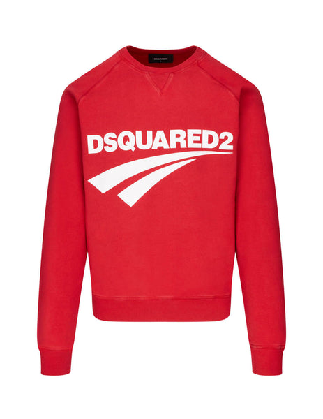 Dsquared2 Men's Giulio Fashion Red Logo-Print Sweater S74GU0451S25030307