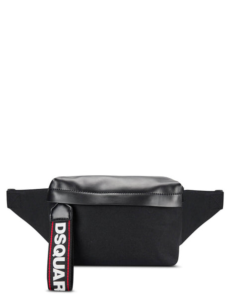 Dsquared2 Men's Black Logo Tab Bum Bag Bbm0010168022162124
