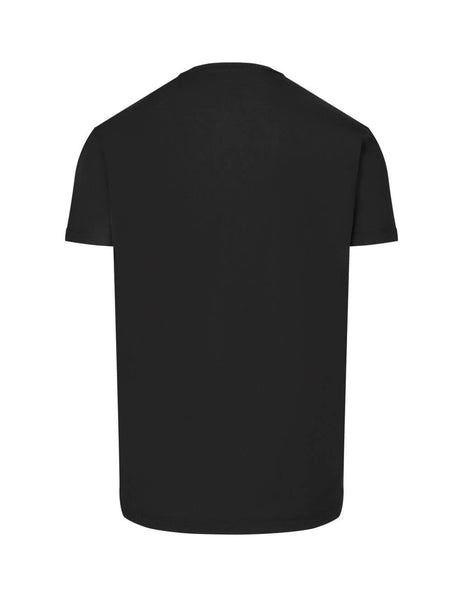 Dsquared2 Men's Giulio Fashion Black Logo Tape T-Shirt S74GD0548S22427900