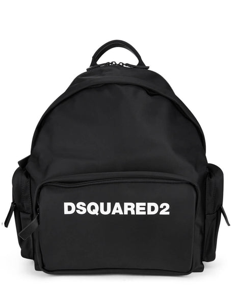Dsquared2 Men's Giulio Fashion Black Neoprene Backpack BPM004511702174M063