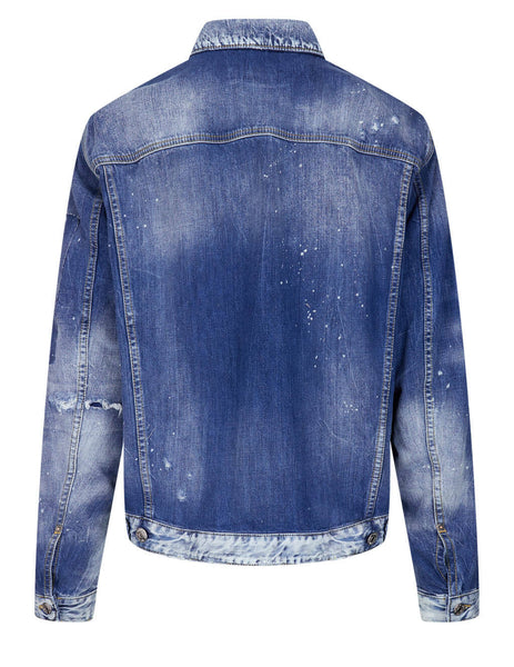 Men's Dsquared2 Over Jean Jacket in Blue - S71AN0282S30309470