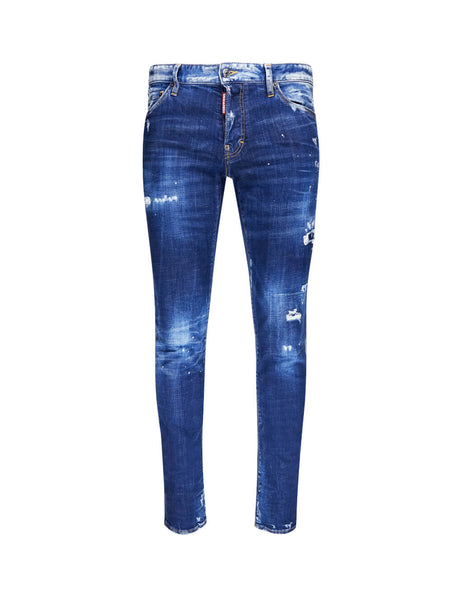 Dsquared2 Men's Giulio Fashion Blue Paint Slim Jean S74LB0592S30342470