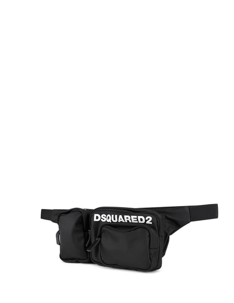 Dsquared2 Men's Giulio Fashion Black Patch Pocket Belt Bag BBM002011702174M063