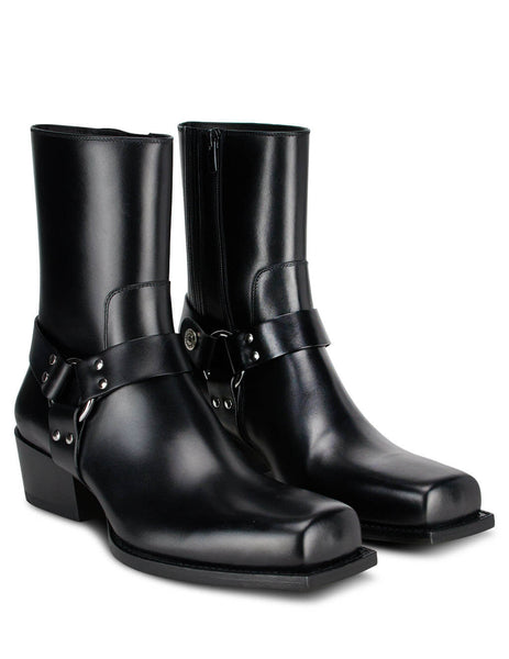 Dsquared2 Men's Black Leather Rider Western Boots BOM0014015000012124