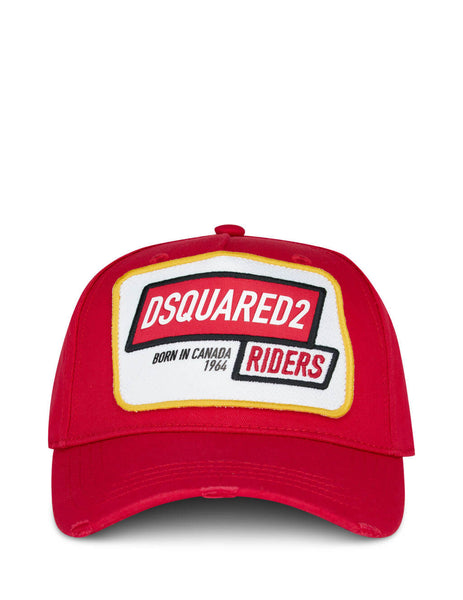 Dsquared2 Men's Red Riders Embroidered Cap BCM027105C000014065