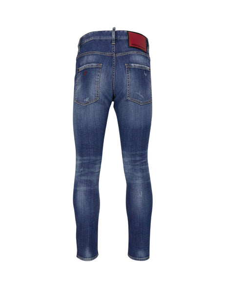 Dsquared2 Men's Giulio Fashion Blue Skater Jeans  S74LB0715S30342470