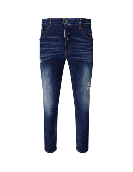 Dsquared2 Men's Giulio Fashion Blue Skater Jeans S79LA0009S30342470