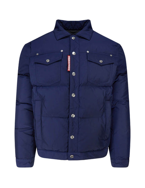 Dsquared2 Men's Giulio Fashion Navy Sports Jacket S74AM1097S53141524