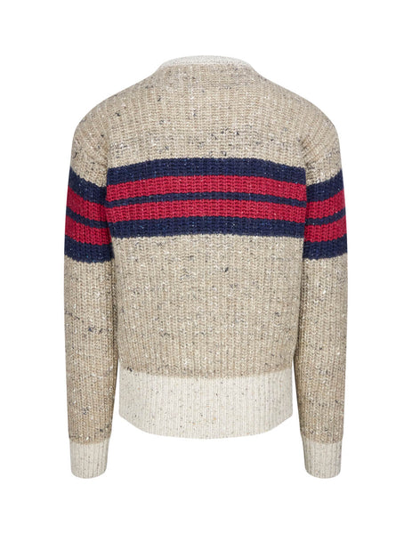 Dsquared2 Men's Giulio Fashion Beige Striped Marl Knit S74HA0970S16793961