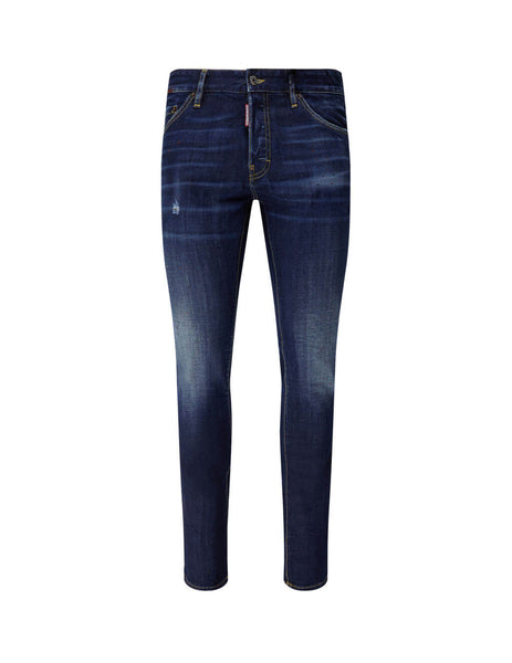 Dsquared2 Men's Giulio Fashion Blue Twin Patch Jeans S74LB0767S30664470