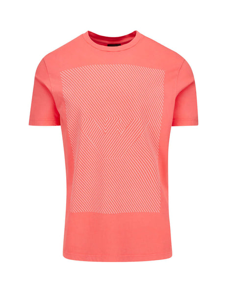 Emporio Armani Men's Giulio Fashion Orange Illusion Logo T-Shirt 3H1TB21JNQZ0218