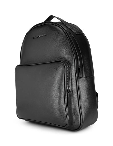 Men's Black Emporio Armani Metal Logo Backpack Y4O194YEW0J81072