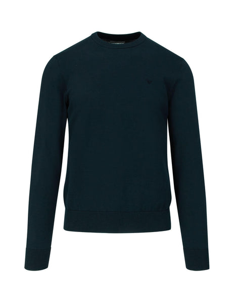 Men's Night Blue Emporio Armani Core Crewneck Jumper 8N1MC81MPPZ0927