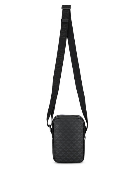 Emporio Armani Men's Black Crossbody Logo Bag Y4M230YTO2J184284