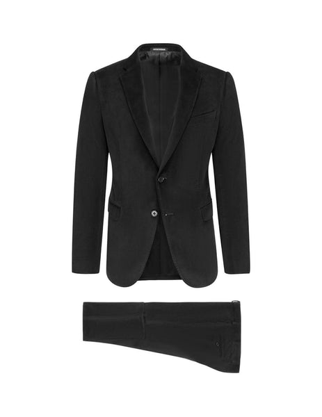 Emporio Armani Men's Giulio Fashion Black Diagonal Grain Suit 41VMET41568999