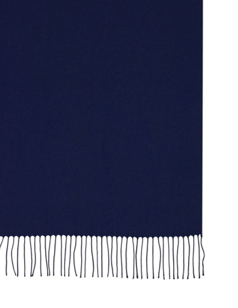 Men's Emporio Armani Eagle Logo Print Twill Scarf in Navy - 6252148A31800035