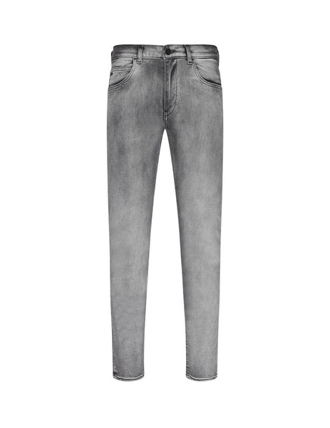Emporio Armani Men's Grey Stretch Faded Denim Jeans 6G1J101D6Mz0644