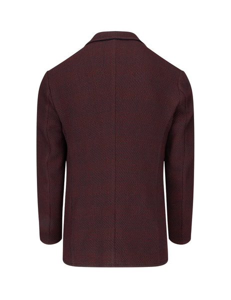 Emporio Armani Men's Giulio Fashion Red Knit Jacket 41G51S41S28370