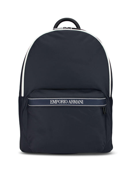 Emporio Armani Men's Navy Logo Print Backpack Y4O260YJI6J80033