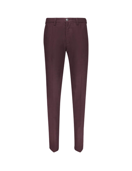 Emporio Armani Men's Giulio Fashion Dark Red Marl Trousers 41P74041609370