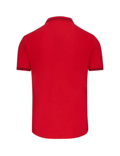 Men's Red Emporio Armani Piping Polo Shirt 8N1F301JPTZ0391