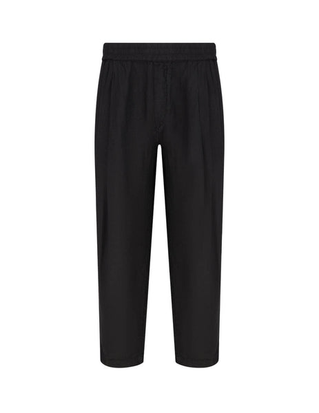 Emporio Armani Men's Giulio Fashion Black Relaxed Trousers 3H1PC51N5FZ0999