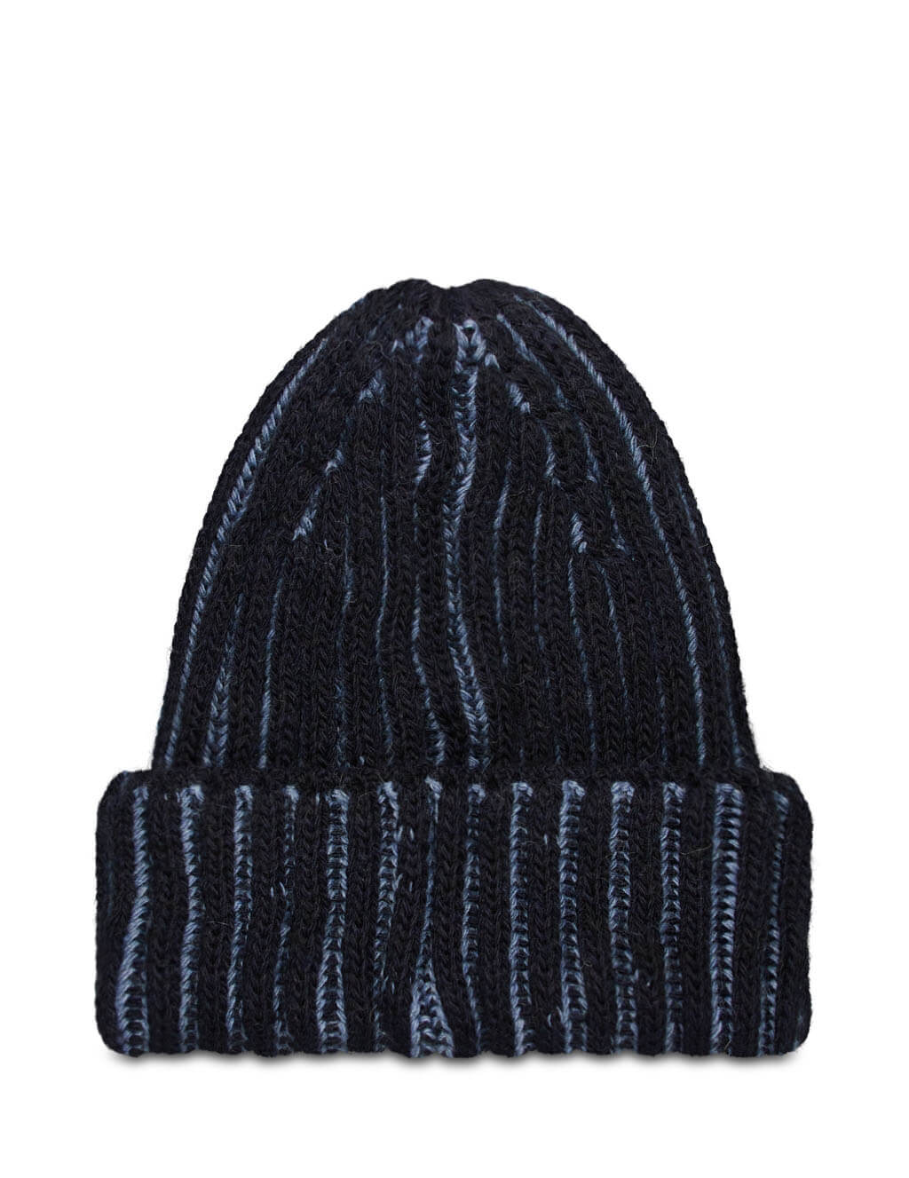 Men's Emporio Armani Ribbed Beanie in Blue - 6270120A51200134