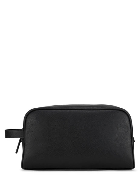 Emporio Armani Black Saffiano Regenerated Washbag Y4R319Y020V181072