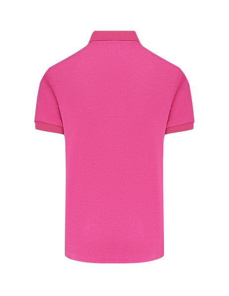 Emporio Armani Men's Giulio Fashion Fuchsia Satin Logo Polo Shirt 3H1F851J80Z0352