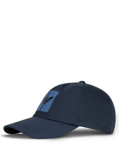 Men's Navy Blue Emporio Armani Stitched Logo Baseball Cap 6275340P56100035