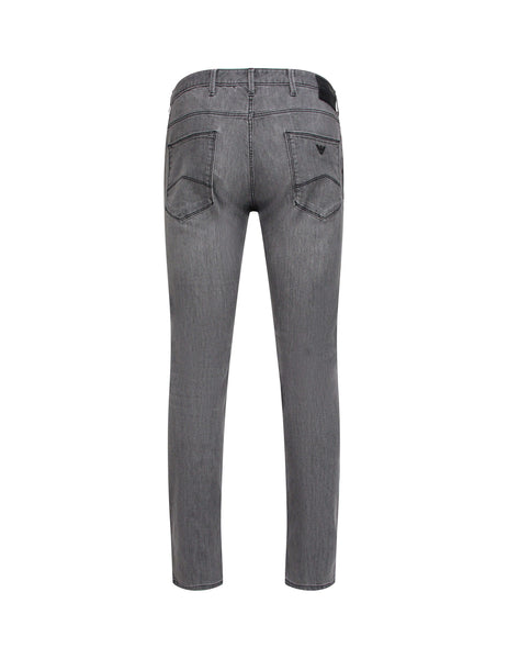 Emporio Armani Men's Stonewashed Grey J06 Denim Jeans 3z1j061draz0006