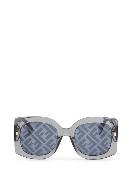 Fendi Eyewear Women's Grey Transparent Sunglasses 203716KB753MD