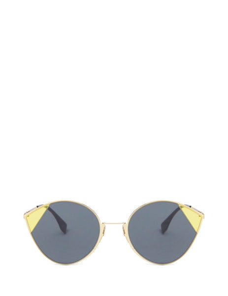 Fendi Women's Giulio Fashion Grey Cut-Eye Round Sunglasses FF0341S2F7