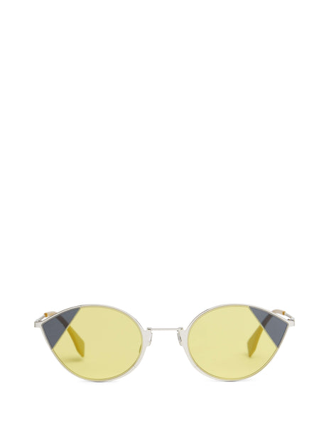 Fendi Women's Giulio Fashion Grey Cut-Eye Sunglasses FF0342SB1Z