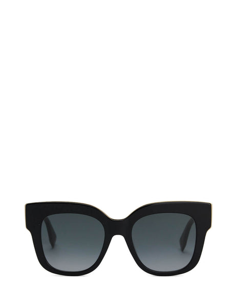 Fendi Eyewear Women's Black F Is Fendi Square Sunglasses FF 0359/G/S 807-90