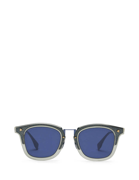 Fendi Eyewear Men's Grey and Blue FF Sunglasses FF M0045/S 09V-KU