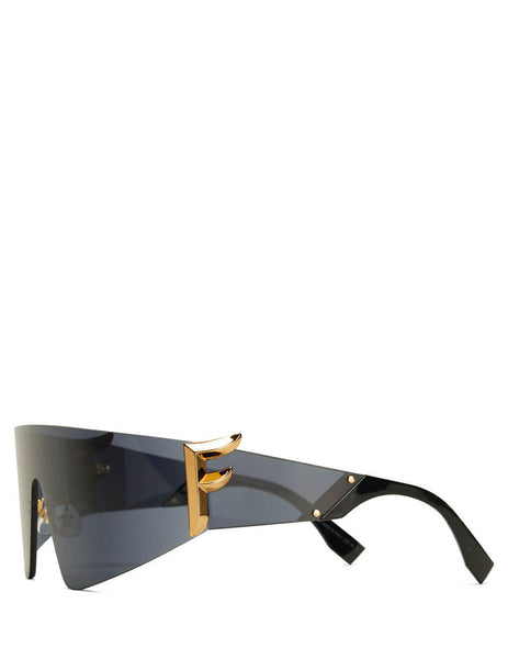 Fendi Eyewear Women's Black FFreedom SunglasseS FF 0382/S 807-IR
