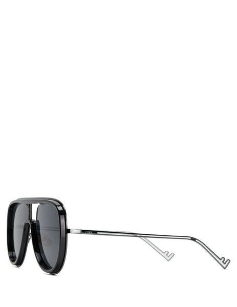 Fendi Eyewear Men's Black and Dark Ruthenium Futuristic Fendi FF M0068/S ANS-IR