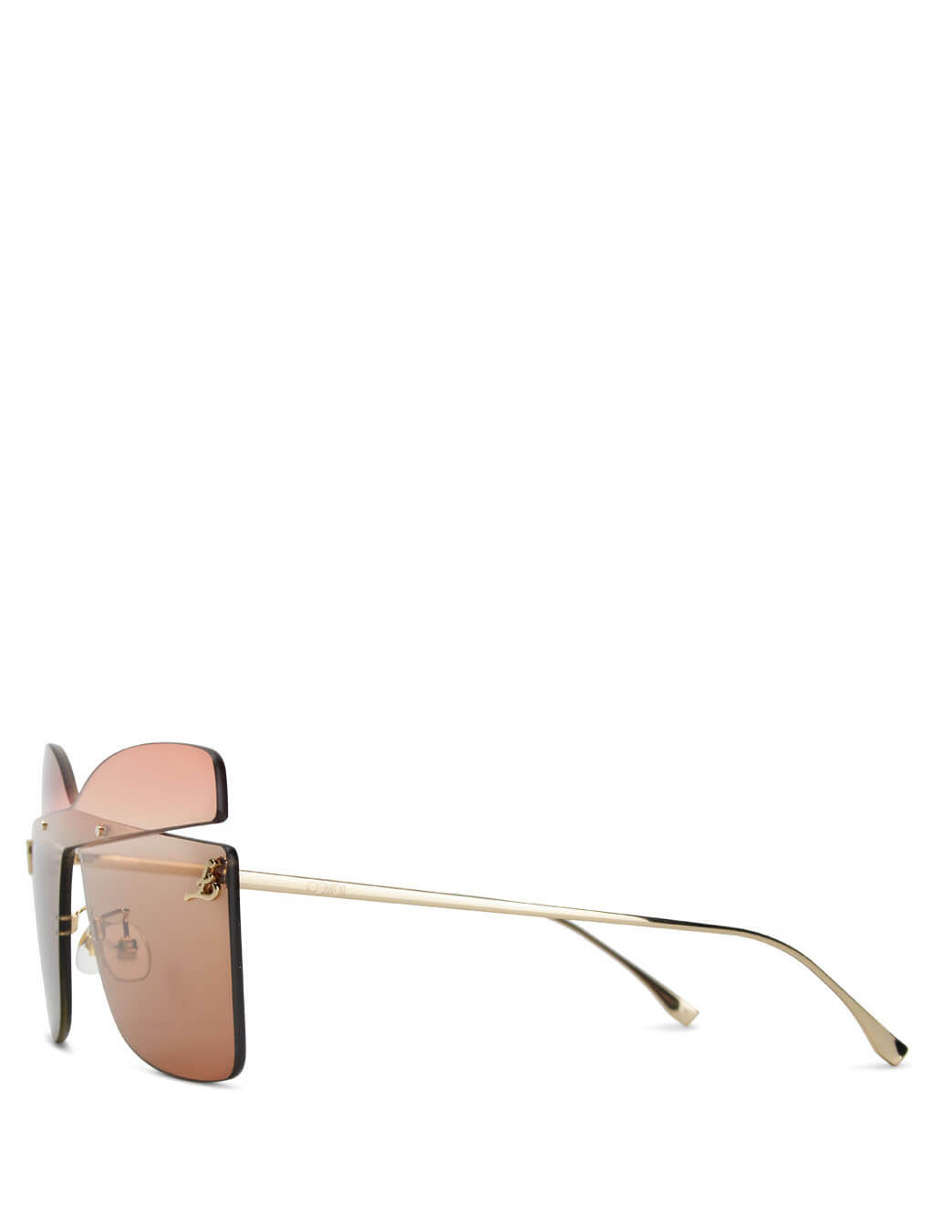 Fendi Eyewear Women's Red, Peach Pink and Brown Karligraphy Sunglasses FF 0399/S G63-HA