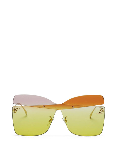Fendi Women's Karligraphy Sunglasses in Light Pink, Orange and Yellow FF 0399/S 6R2-06
