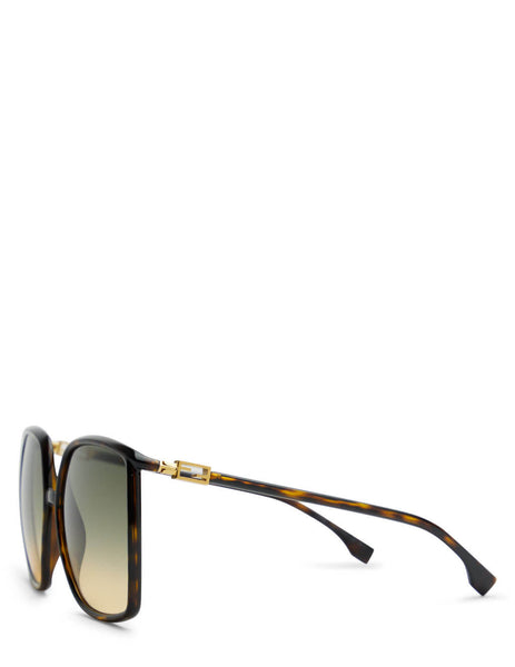 Women's Fendi FF 0431/G/S Sunglasses in Dark Havana
