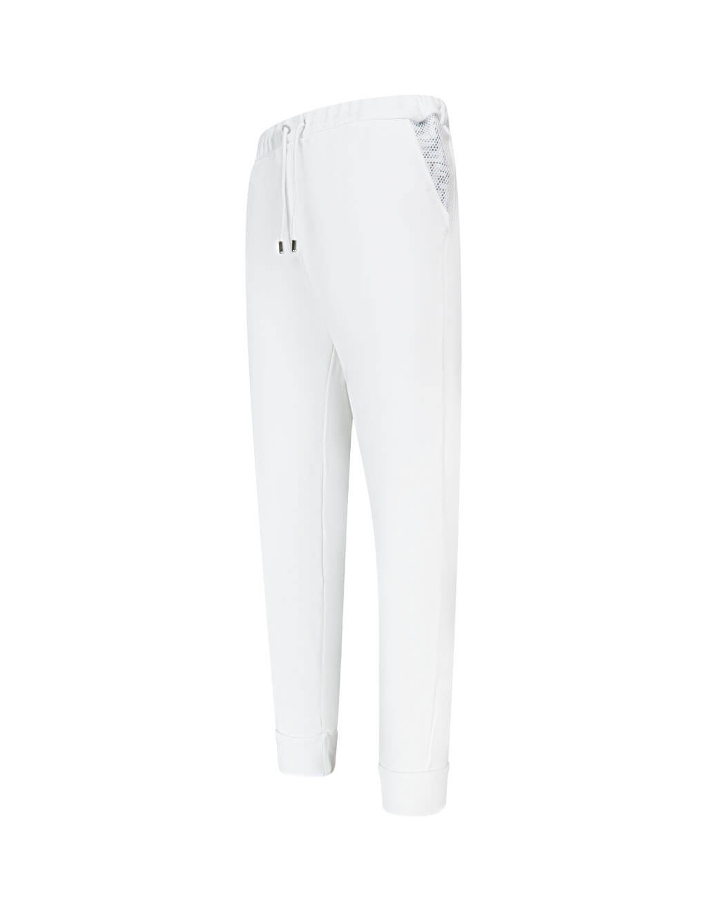 Men's White Fendi Jersey Jogging Trousers FAB515AAXRF0ZNM