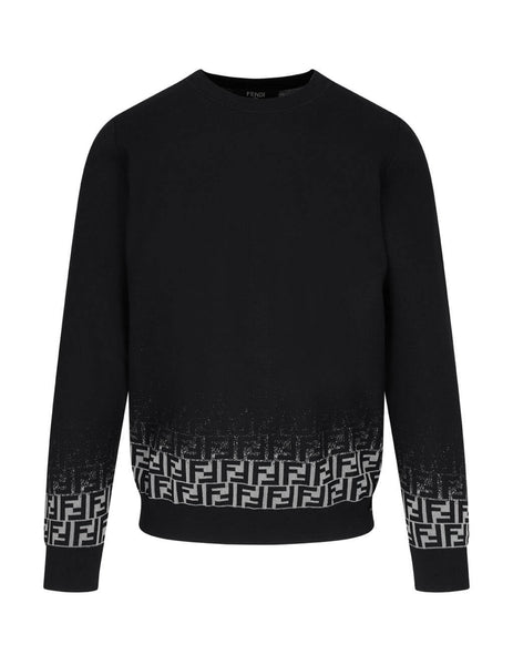 Fendi Men's Black Degrade FF Jumper FZY092ACFRF0QA1