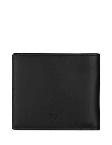 Fendi Men's Giulio Fashion Black Diabolic Eyes Billfold Wallet 7M0169A80SF025G