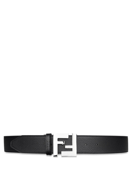 Fendi Men's Black FF Leather Belt 7C0403SFRF0GXN