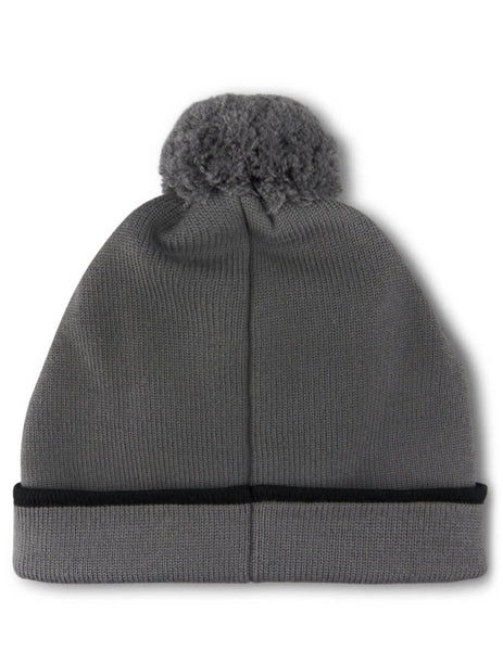 Fendi Men's Giulio Fashion Grey Logo Beanie FXQ056A88MF17QE
