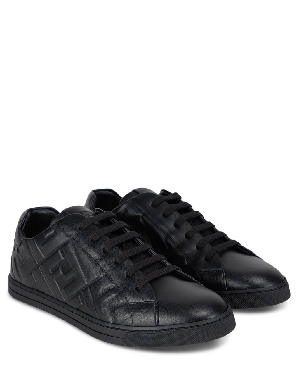 Men's FENDI Nappa Sneakers in Black. 7E1374ABNSF0ABB