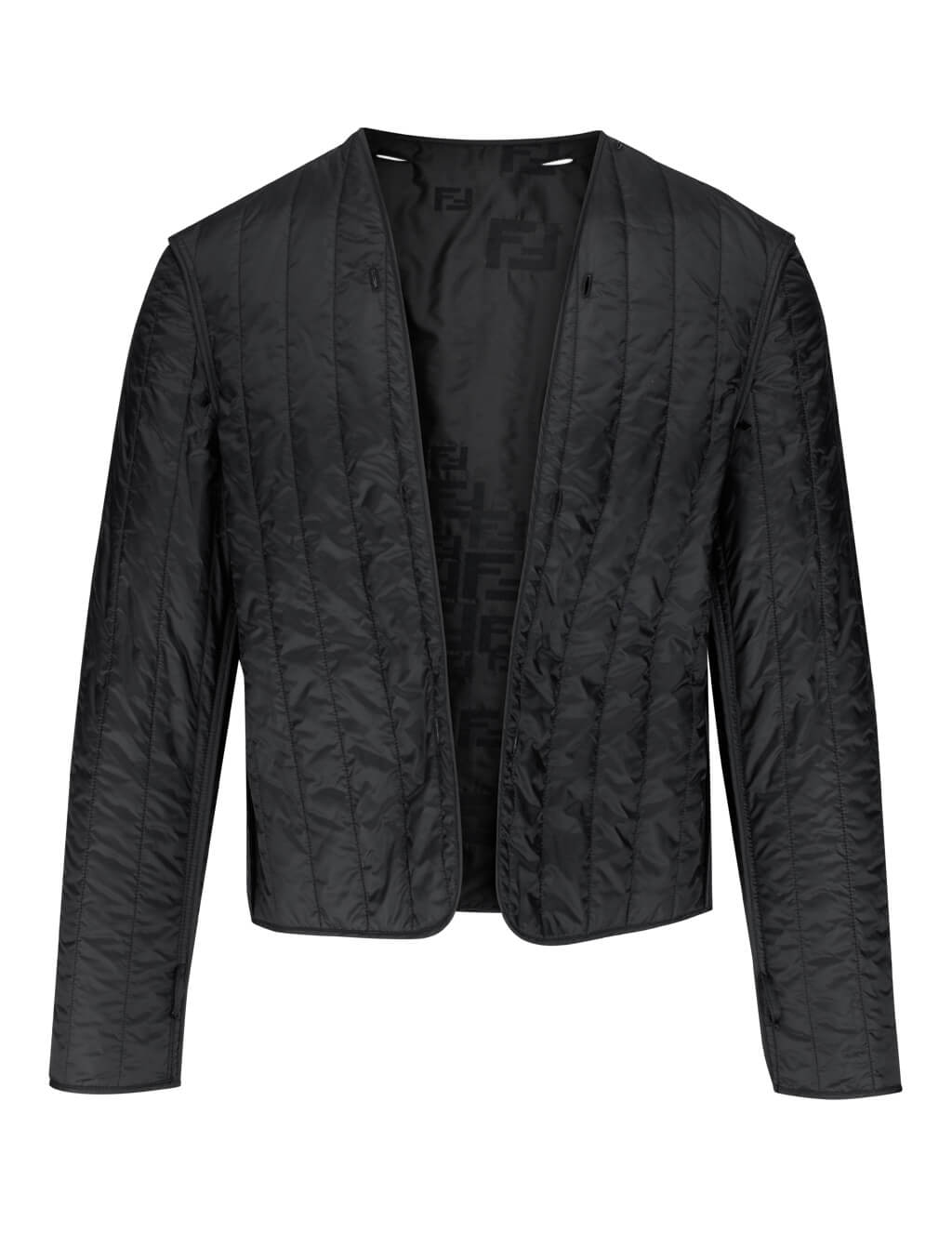 Fendi Men's Black Organza FF Jacket FW0430AA8IF0QA1