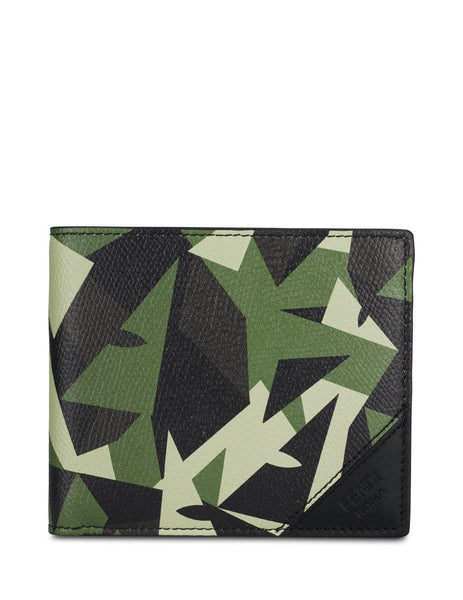 Fendi Men's Giulio Fashion Green Wonders Eye Wallet 7M0169AC97F1BQE
